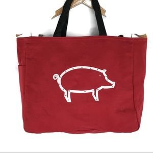 Woo Pie Sooie Red Razorback Tote with Bling